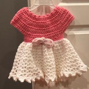 Handmade knitted dress 6 months